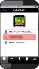 App Emergency Call Screen